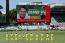 The players observe a minute's silence in honour of the late Dean Jones, Australia vs India, 1st ODI, Sydney, November 27, 2020