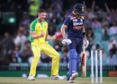 Josh Hazlewood celebrates Virat Kohli's wicket, Australia vs India, 1st ODI, Sydney, November 27, 2020
