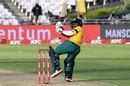 Temba Bavuma falls to a mis-judged scoop shot, South Africa v England, 1st T20I, Cape Town, November 27, 2020