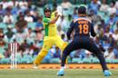Aaron Finch on his way to a half-century, Sydney, Australia vs India, 2nd ODI, November 29, 2020