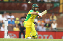 Glenn Maxwell switch-hits during his half-century, Australia v India, 2nd ODI, Sydney, November 29, 2020