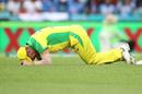 David Warner in pain after injuring his groin, Australia v India, 2nd ODI, Sydney, November 29, 2020