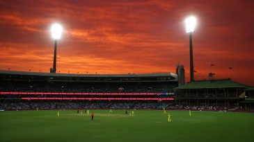 A gorgeous sight as night falls at the SCG