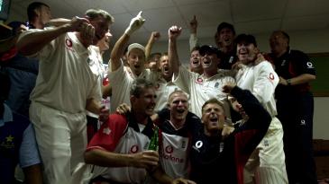 England celebrate their win in Karachi