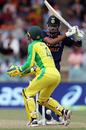 Hardik Pandya bottom-edges a pull past the keeper, Australia vs India, 3rd ODI, Canberra, December 2, 2020