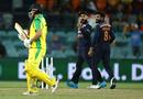 Aaron Finch gets a send-off from Virat Kohli, Australia vs India, 3rd ODI, Canberra, December 2, 2020