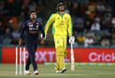 Ashton Agar injured his calf while batting, Australia vs India, 3rd ODI, Canberra, December 2, 2020