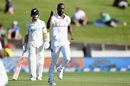 Kemar Roach broke through with Tom Latham's wicket, 1st Test, Hamilton, 1st day, December 3, 2020