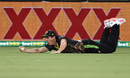 Sean Abbott dives in the outfield to catch KL Rahul, Australia vs India, 1st T20I, Canberra, December 4, 2020