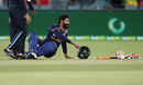 Ravindra Jadeja injured his leg while batting, Australia vs India, 1st T20I, Canberra, December 4, 2020
