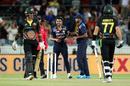 Deepak Chahar celebrates after dismissing Moises Henriques , Australia vs India, 1st T20I, Canberra, December 4, 2020