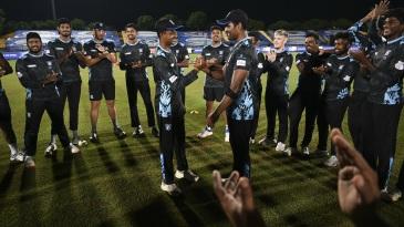 Vijayakanth Viyaskanth receives his maiden T20 cap from Thisara Perera