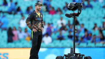 Matthew Wade at the toss after becoming Australia