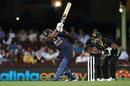 Hardik Pandya swings one to the leg side, Australia vs India, 2nd T20I, Sydney, December 6, 2020