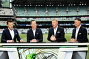 Commentators Adam Gilchrist, Michael Vaughan, Shane Warne and Mike Hussey discuss the game, Australia v New Zealand, 2nd Test, Day 1, Melbourne, December 26, 2019
