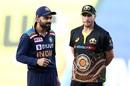 Virat Kohli and Aaron Finch at the toss, Australia vs India, 3rd T20I, Sydney, December 8, 2020