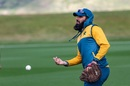 Misbah-ul-Haq participates in a fielding drill, Queenstown, December 9, 2020