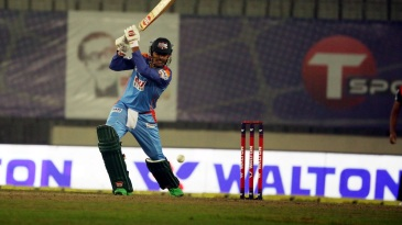 Soumya Sarkar drills one away