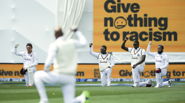 West Indies take a knee ahead of the Wellington Test