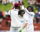 Tom Latham became Chemar Holder's first Test wicket, New Zealand v West Indies, 2nd Test, Wellington, December 11, 2020