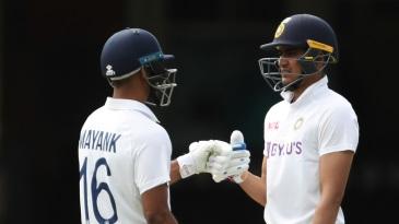 Mayank Agarwal and Shubman Gill added 104 runs together