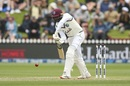Shamarh  Brooks keeps his eyes on the ball, New Zealand vs West Indies, 2nd Test, Wellington, 3rd day, December 13, 2020