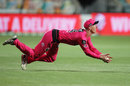 Jordan Silk takes a superb outfield catch, Sydney Sixers vs Melbourne Renegades, BBL, Hobart, December 13, 2020