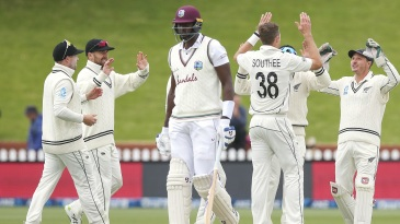 New Zealand took a little over an hour to take the four wickets needed for victory