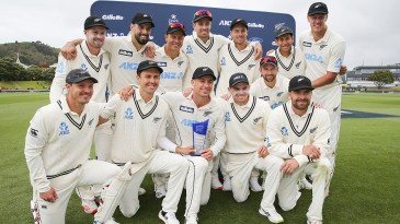 New Zealand are all smiles after wrapping up a 2-0 win and moving to the top of the ICC rankings