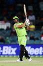 Daniel Sams hammers leg side, Sydney Thunder vs Brisbane Heat, BBL 2020, Canberra, December 14, 2020