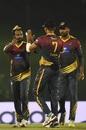 Malinda Pushpakumara celebrates a wicket, Jaffna Stallions v Dambulla Viiking, 2nd semi-final, LPL 2020, Hambantota, December 14, 2020