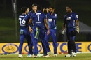 A moment of celebration for Jaffna Stallions as Shoaib Malik strikes again, Galle Gladiators vs Jaffna Stallions, final, LPL 2020, Hambantota, December 16, 2020