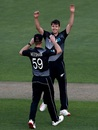 Jacob Duffy picked up three wickets inside the powerplay, New Zealand vs Pakistan, 1st T20I, Auckland, December 18, 2020
