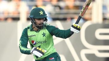 Shadab Khan battled hard to lift Pakistan after a horror start