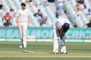 Mohammed Shami was struck on the hand while batting and had to retire hurt, Australia vs India, 1st Test, Adelaide, 3rd day, December 19, 2020