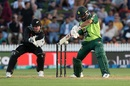 Mohammad Hafeez plays a cut, New Zealand vs Pakistan, 2nd T20I, Hamilton, December 20, 2020