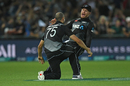 Glenn Phillips roars his approval after Daryl Mitchell's spectacular catch, New Zealand vs Pakistan, 3rd T20I, Napier, December 22, 2020
