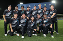 New Zealand with the T20I trophy, having won the series 2-1, New Zealand vs Pakistan, 3rd T20I, Napier, December 22, 2020