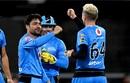 Rashid Khan celebrates after taking a wicket, Brisbane Heat vs Adelaide Strikers, BBL 2020, Brisbane, December 23, 2020