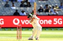 Joe Burns looks to play one on the off side, Australia vs India, 2nd Test, Melbourne, 1st day, December 26, 2020