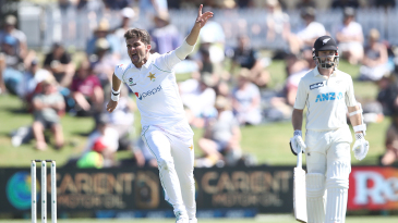 Shaheen Afridi was relentless on the first day but Kane Williamson held New Zealand together