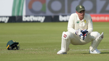 It was a difficult first day as Test captain for Quinton de Kock