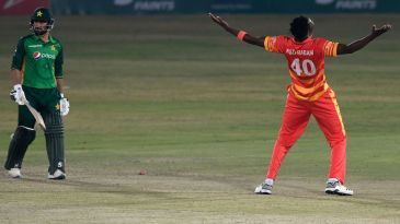 Blessing Muzarabani picked up five wickets in regulation time and two more in the Super Over