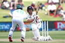 BJ Watling attempts a sweep shot, New Zealand vs Pakistan, 1st Test, Bay Oval, Day 2, December 27 2020
