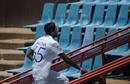 Kasun Rajitha hobbled off with a groin injury, South Africa v Sri Lanka, 1st Test, Day 2, Centurion, December 27, 2020