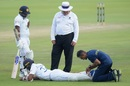 Dinesh Chandimal receives some treatment from the physio, South Africa vs Sri Lanka, 1st Test, 3rd day, Centurion, December 28, 2020