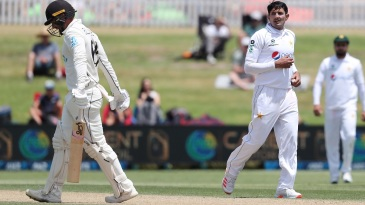 Mohammad Abbas got the wicket of Tom Blundell
