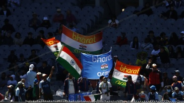 India fans show their support