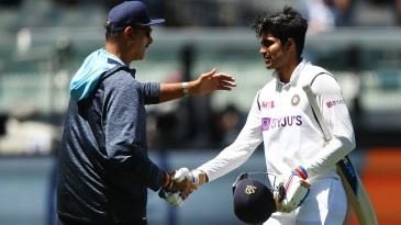 Ravi Shastri congratulates Shubman Gill after India's win