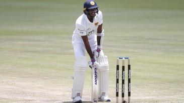 Kasun Rajitha came out to bat despite an injury